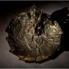 Антикварная бронзовая пепельница Фортуна