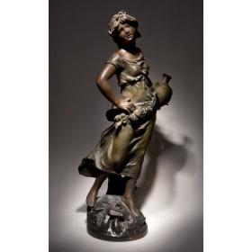 Старинная статуэтка  «За водой» братья Моро (Moreau)