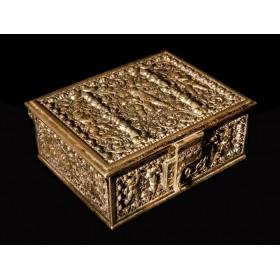 Антикварная бронзовая шкатулка Херувимы - дорогой подарок в Москве