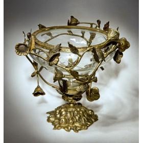 Антикварная ваза хрусталь, бронза - купить подарок в Москве