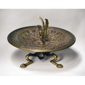 Антикварная ваза-конфетница из бронзы в подарок стиль Наполеон III