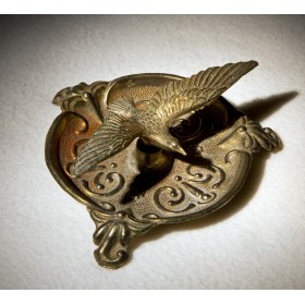 Антикварная пепельница из бронзы Альбатрос