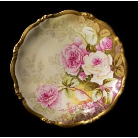Антикварная тарелка розы Elite Limoges