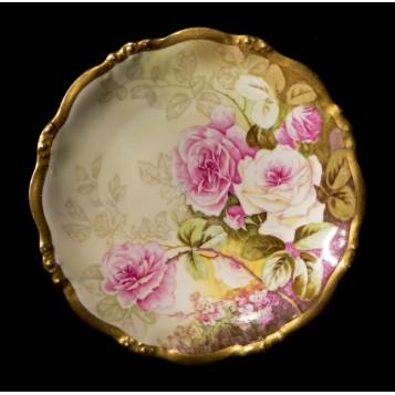 Антикварная тарелка розы Elite Limoges -купить в подарок в Москве