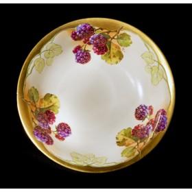 Антикварная тарелка Ежевика A. Lanternier Limoges