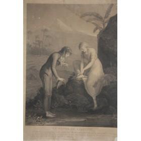 Купить антикварную гравюру Отдых Вирджинии в подарок