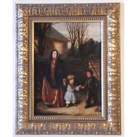 3754 Антикварная картина английский художник Augustus Edwin Mulready