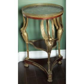 Старинный столик-этажерка с бронзой, АМПИР