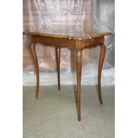 Антикварный викторианский журнальный столик, английский антикварный стол