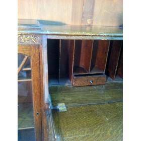 Старинная эдвардианская витрина с бюро