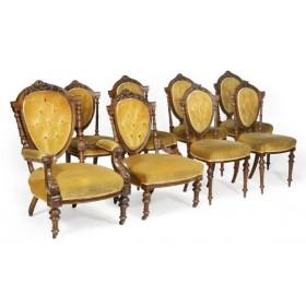 Старинный набор мягкой мебели Викторианской эпохи