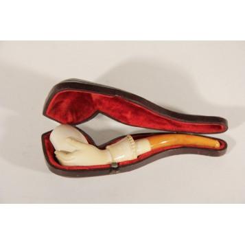 Антикварная пенковая курительная трубка