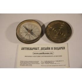 Антикварный карманный компас Георгианский стиль Англия