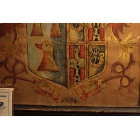 Старинный рисунок английского герба 1634 г.