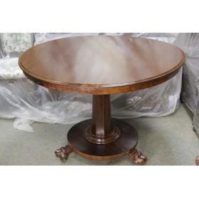 Антикварный Викторианский стол из красного дерева с откидывающейся столешницей