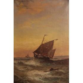 Старинная картина художника W. Rogers