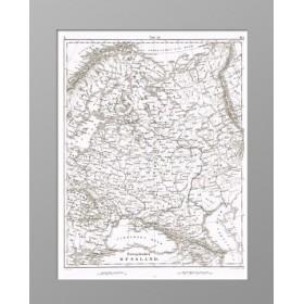 Европейская часть Российской империи. 1851 год. Хек. Старинная карта