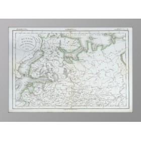 Европейская Россия. Часть Северная. 1831 год. Антикварная карта Деламарш