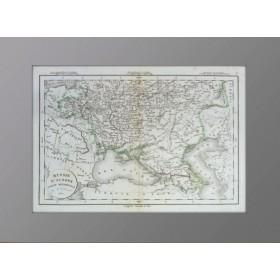 Европейская Россия. Часть Южная. 1831 год. Антикварная карта. Деламарш