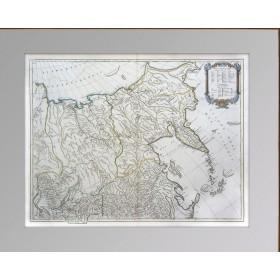 Генеральная старинная карта России в Европе и Азии, 1770 год. Музейный экземпляр в подарок