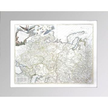 Генеральная антикварная карта России в Европе и Азии (лист1, 55х75), 1770 год. Музейный экземпляр в подарок