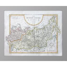 Россия в Европе и Азии на антикварной карте Кука. 1802 год.