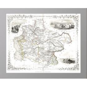 Независимая Тартария (Казахстан, Туркменистан, Узбекистан…) на антикварной карте 1851 года