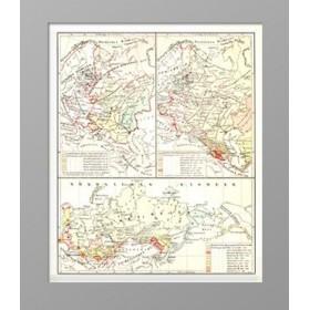 Карта истории роста России со времен Петра Великого.