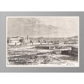Баку. Вид на порт. 1880 год.