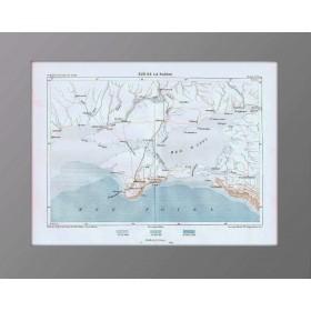 Крым и юг России на антикварной карте 1880 года. Франция.