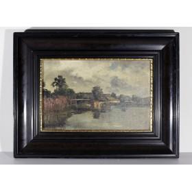 Старинный пейзаж художника Willroider купить в подарок и в интерьер