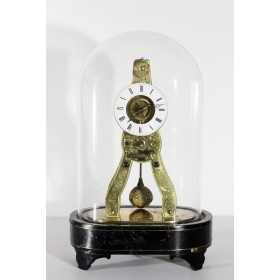Миниатюрные старинные французские часы скелетоны