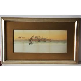 Купить старинную акварель в подарок английского художника 19 века Ф. Гудал