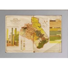Старинная карта Дагестанской области 1886 года