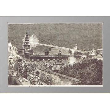 1883 Москва Коронация Иллюминация