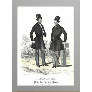 1845 Мужская мода Август