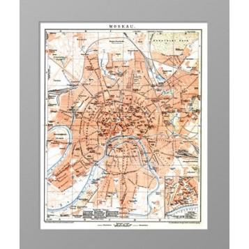 1897 План Москвы Brock