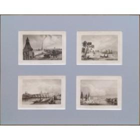Антикварные гравюры 1838 года с изображением видов Москвы(набор №1)