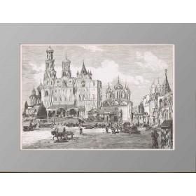 1883 Москва Успенский Собор перед коронацией
