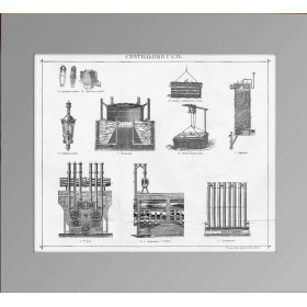 1896 Светильный газ. Антикварная гравюра