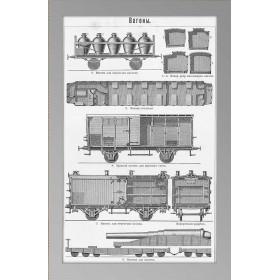 1897 Железнодорожные вагоны Просв