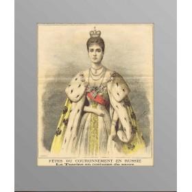 1896 Коронационные портреты Николая II и императрицы Александры