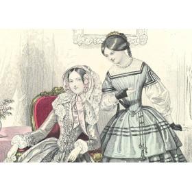 1847 Парижская весенняя мода.