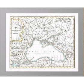 1833 Карта Черного моря и прилегающих территорий