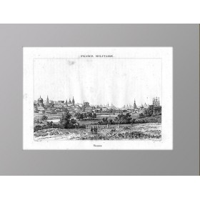 Панорама Москвы в антикварной гравюре 1839 года