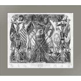 Антикварная гравюра в подарок - Военная атрибутика