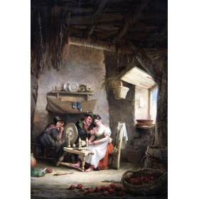 Старинная английская жанровая картина сер.19 века художника J.Canday купить в подарок