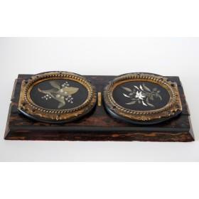Антикварный держатель для книг Викторианской эпохи в стиле Флорентийской мозаики