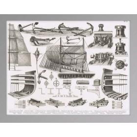 История флота в антикварной гравюре 1870 года.