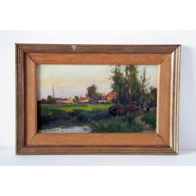Старинная английская живопись, английский пейзаж в подарок